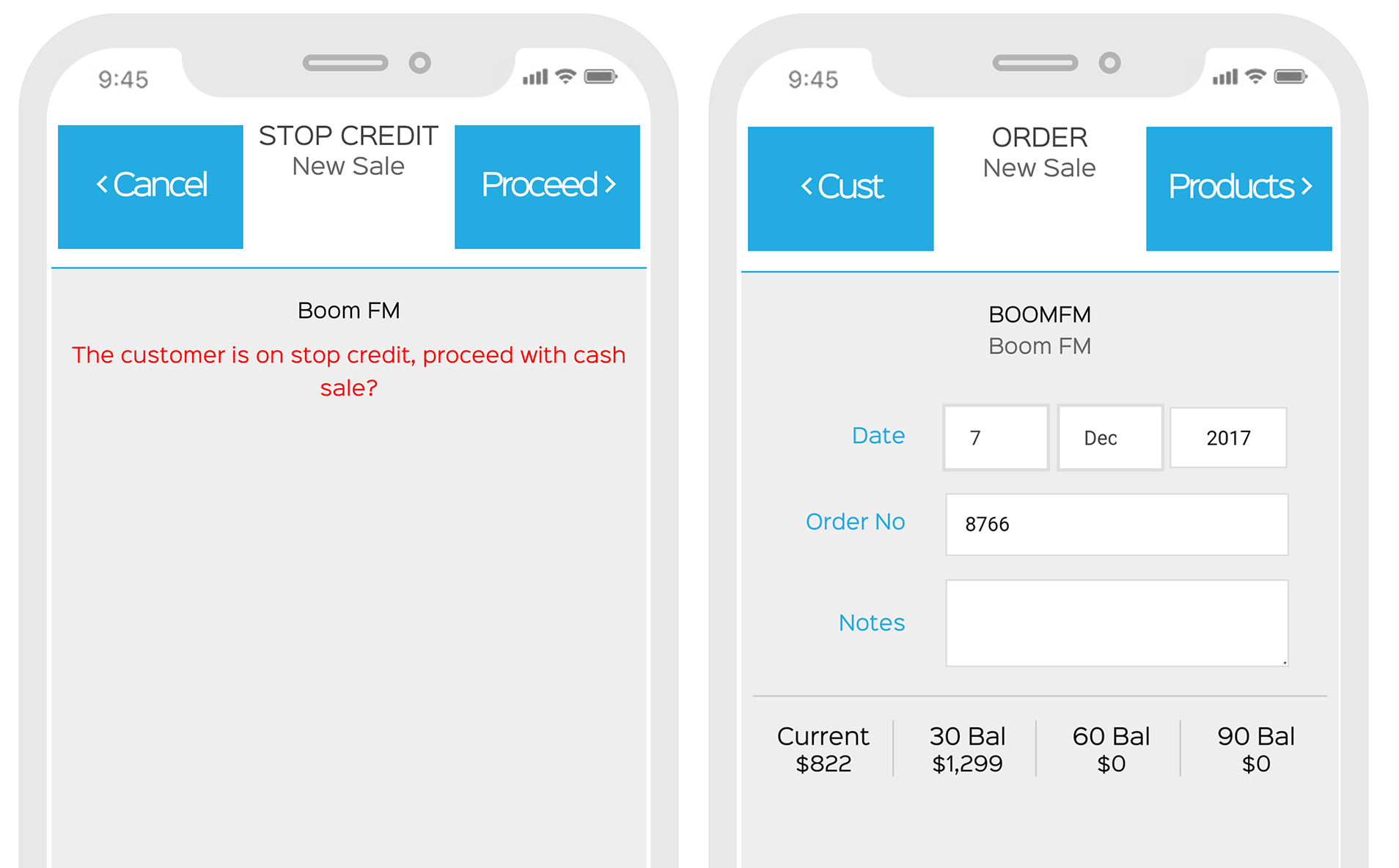 pick sales orders in the EZEMobile app