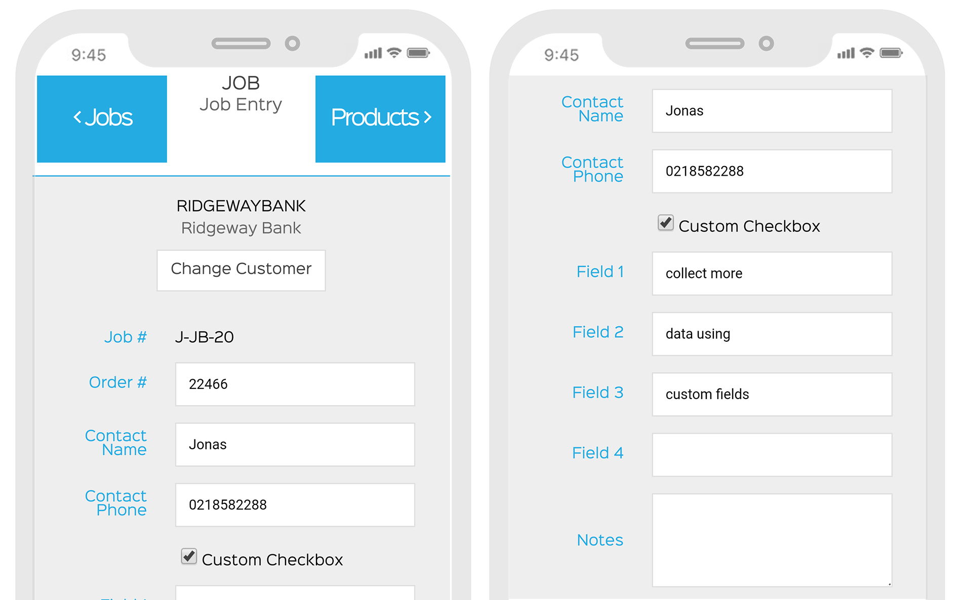 job tracking with EZEMobile. Create a new job anywhere